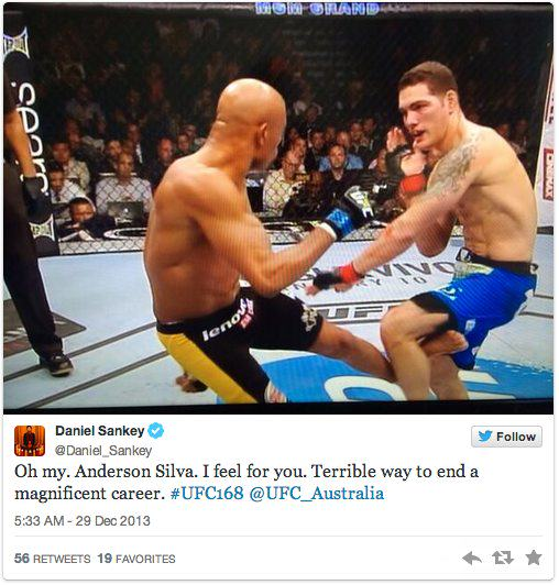 anderson 2 Twitters Unsympathetic Reaction To Anderson Silva Breaking His Leg