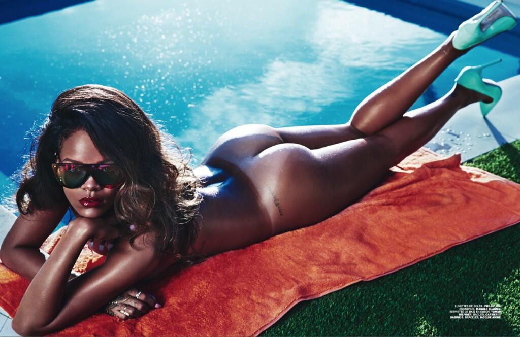 Rihanna Misplaces Her Clothes For Another Naked Shoot (NSFW) BmaMh1bCQAA42ML