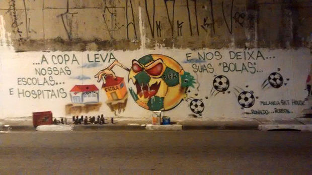 Brazils Anti FIFA Graffiti Ahead Of The World Cup 53860f8db5f60