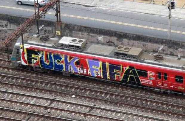 53860fa031ca7 Brazils Anti FIFA Graffiti Ahead Of The World Cup