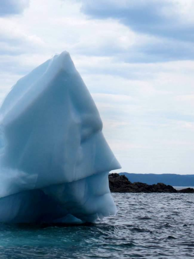 ad 141290931 Batman Face Found On Canadian Iceberg