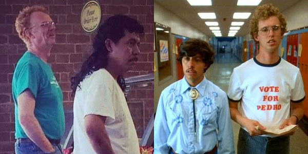 napolean Lad Spots Real Life Napoleon Dynamite And Pedro In Subway