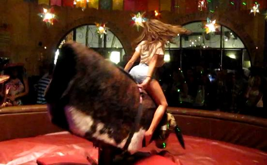bull1 Sexiest Mechanical Bull Ride Of All Time