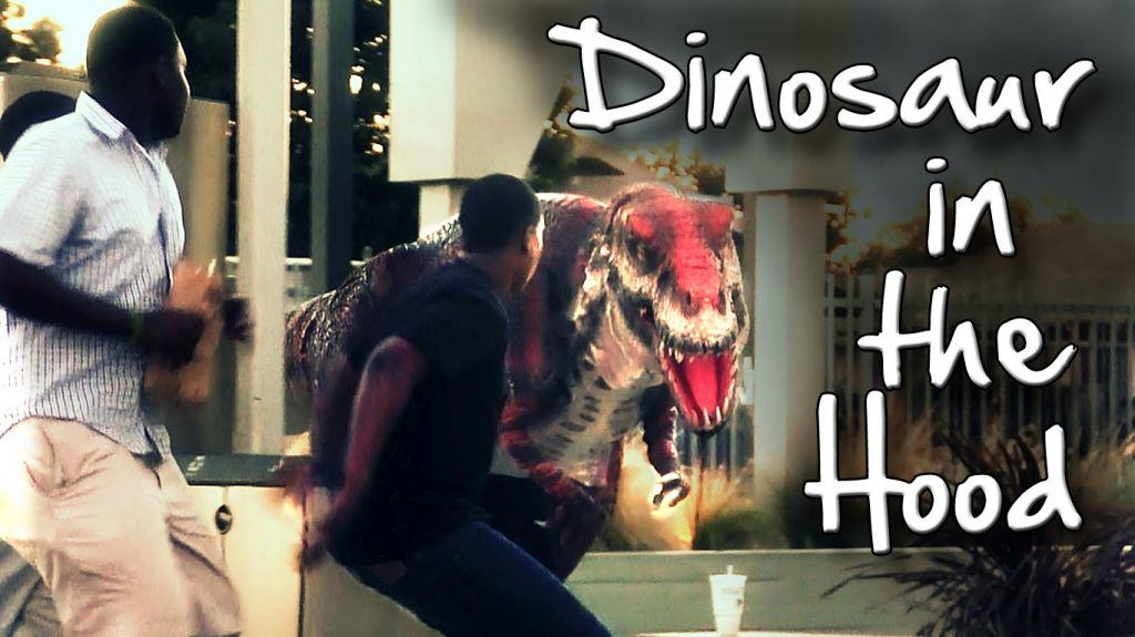 dinosaur in the hood prank Dinosaur In The Hood Prank