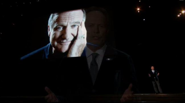 Billy Crystals Touching Tribute To Robin Williams At The 2014 Emmys rw1