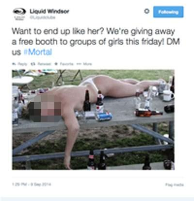 ad 145643207 Nightclub Made To Apologise For Tweeting Pic Of Naked Drunk Girl