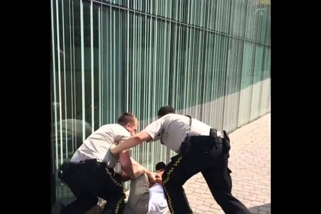 Most Pathetic Skater Vs Security Guard Fight Ever