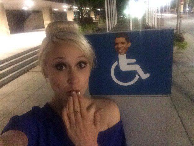 draking 0 Putting Drakes Face On Handicap Signs Is Now Called Draking