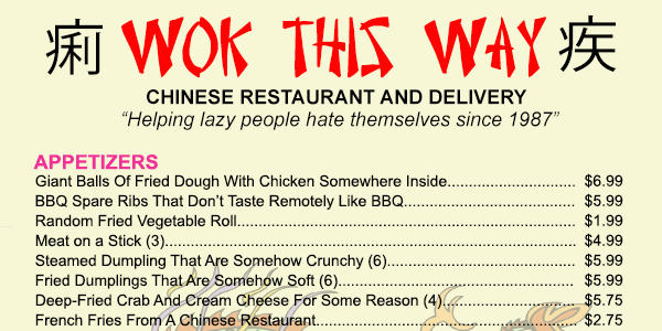 honest chinese menu elite daily1 What A Chinese Food Menu Would Look Like If It Were Honest