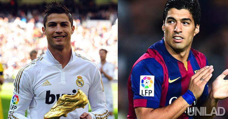 luiscris Cristiano Ronaldo Refuses To Receive Golden Boot If Suarez Is There