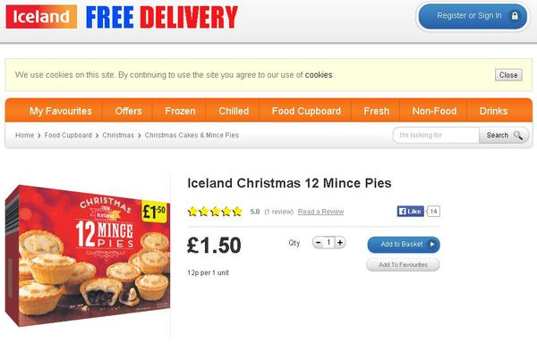 minge Minge Pies For Everyone As Iceland Makes Bad Typo On Mince Pies