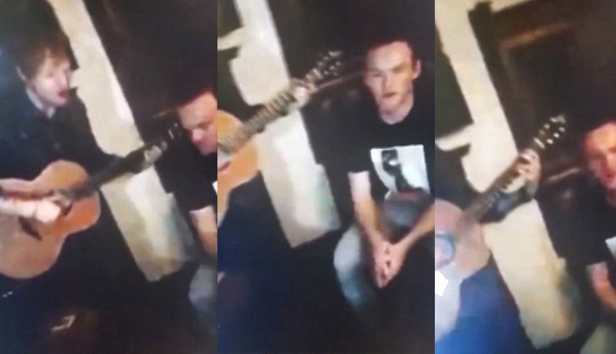Wayne Rooney Attempts To Sing Lego House With Ed Sheeran 114
