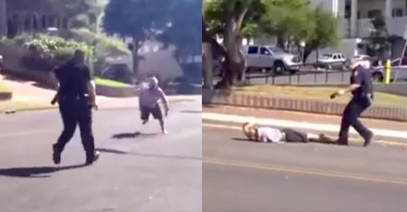 Man Outruns And Taunts Fat Cop, Forgets Tasers Exist 239