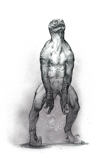 6Cx6kXK Concept Art For Jurassic Worlds Original Human Dinosaur Hybrid Idea