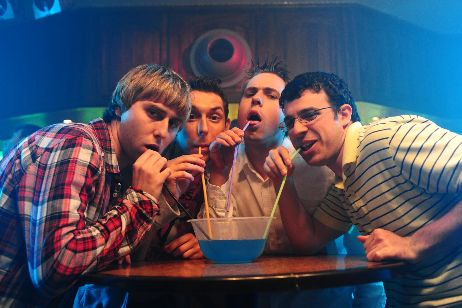 The Inbetweeners Retire Their Characters, Confirm Its All Over The Inbetweeners  l r James Buckley Blake Harrison Joe Harris Simon Bird