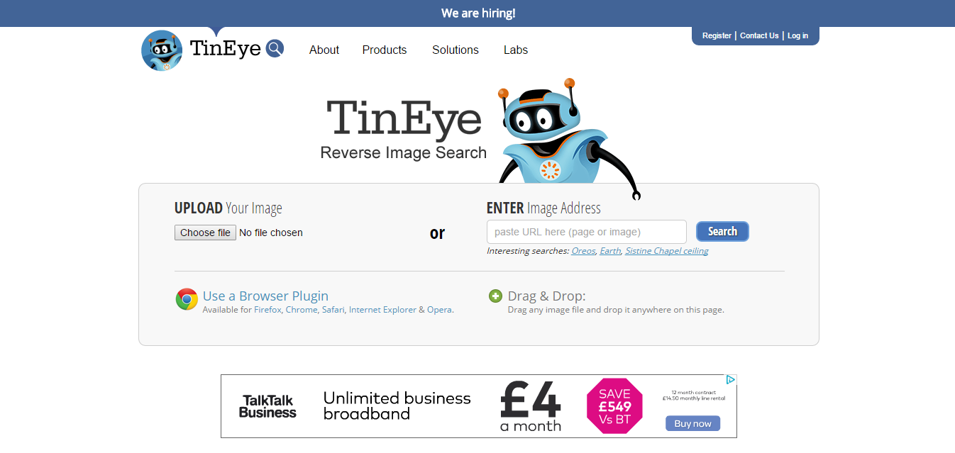 TinEye The Weird, Wonderful And Useless Websites Of The World   Part 1