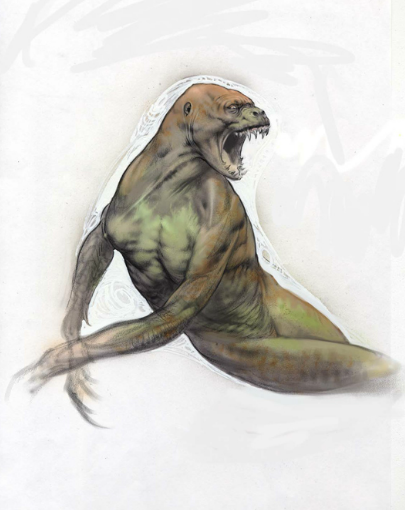 XVmLazJ Concept Art For Jurassic Worlds Original Human Dinosaur Hybrid Idea