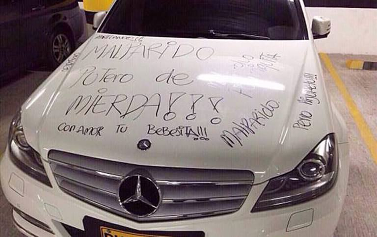 ad 152847901 Pissed Off Girl Writes 'Crap Shag' And 'Small Penis' On Exs Mercedes