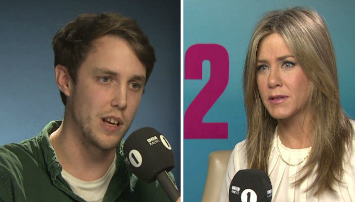 aniston web thumb Watch Jennifer Aniston Prank Chris Stark At The Request Of Scott Mills