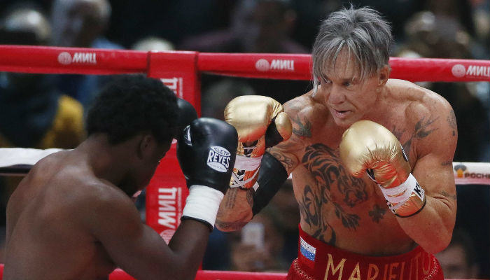 rourke web thumb Mickey Rourke Makes A Boxing Come Back At 62