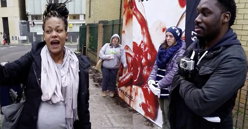 225 Pregnant Woman Silences Anti Abortion Protesters Outside Abortion Clinic