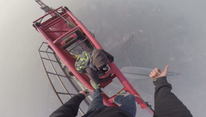 SHanghai web thumb Two Russian Lads Climb The Second Tallest Tower In The World
