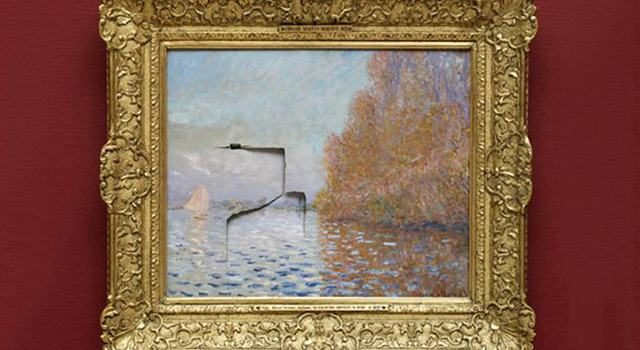monet Man Punches Hole Through £8 Million Monet Painting, Gets 5 Years In Prison