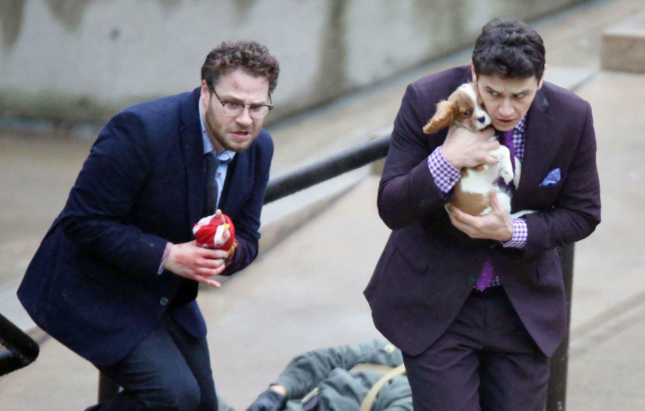 sethrogenjamesfrancopuppy1201 Sony Win: The Interview To Open In Cinemas On Christmas Day