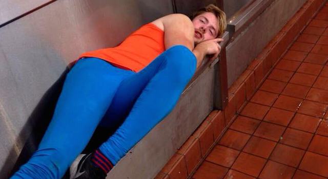 uni Uni Student Has A Few Too Many, Passes Out In Urinal