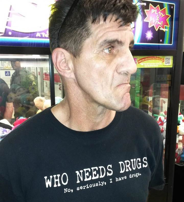 Man Wearing I Have Drugs T Shirt Arrested For Having Drugs 150107 john balmer meth mn 0330 87beef09df272090bf7a34725ab283d9.nbcnews ux 720 800