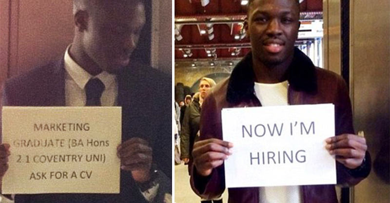 157 Graduate Who Stood Handing Out CVs Is Now Hiring In The Same Spot
