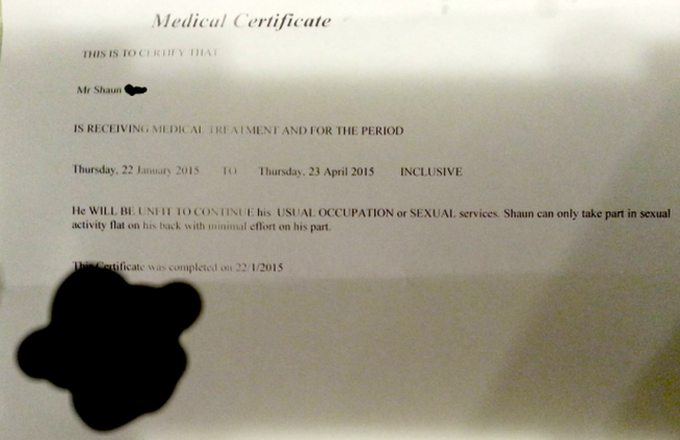 Man Gets Legit Doctors Note For His Poor Sexual Performances doc
