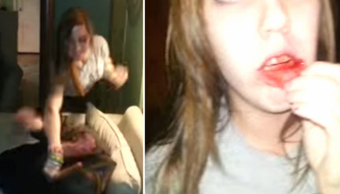 fights web thumb Guy On Drugs Punches Crazy Girl In The Face After She Starts Fight
