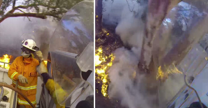 firef fb thumb Firefighters GoPro Helmet Records Him Tackling Serious Australian Bushfire