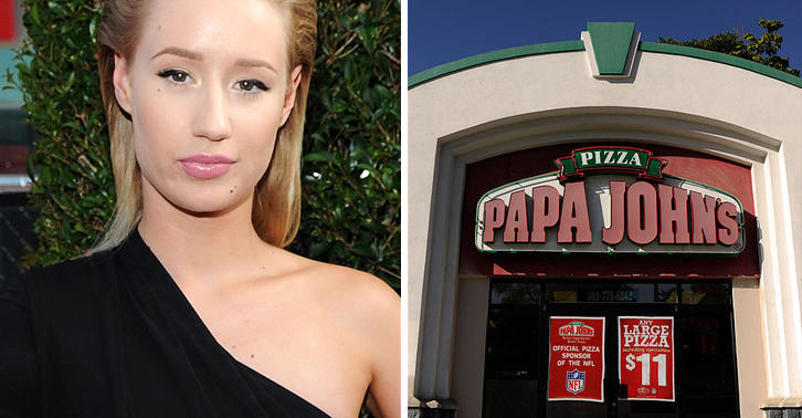 116 Papa Johns Pizza Give Out Iggy Azaleas Phone Number