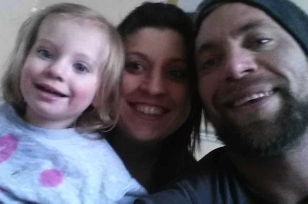 Parents Get Tattoos To Match Their Daughters Birthmark Tanya Phillips along with her husband Adam and daughter Honey Rae