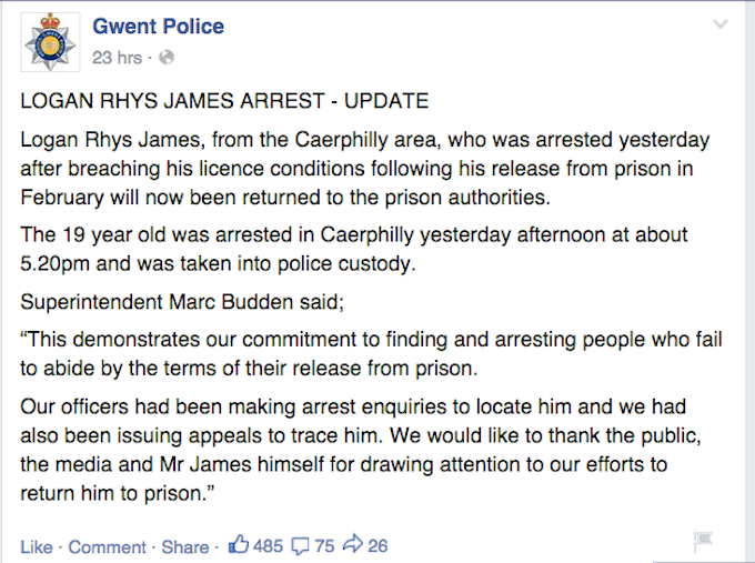 kgbgl7vzjns6z3k3qwdy Teen On Run Taunts Police On Facebook, Gets Caught Instantly