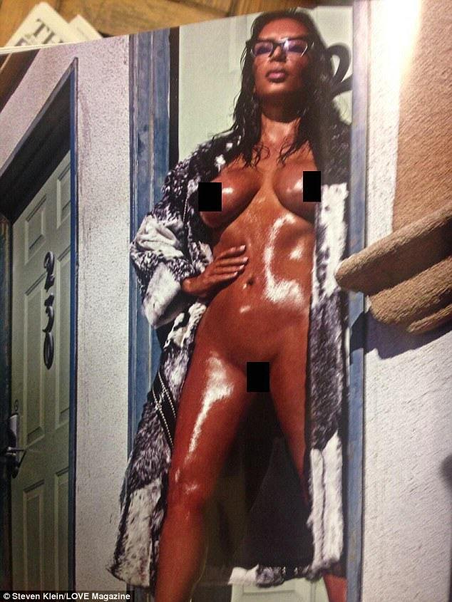 Kim Kardashian Goes Full Frontal AGAIN For Love Magazine kim