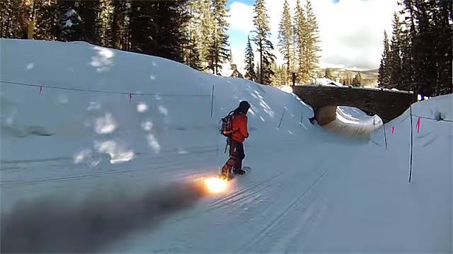 Check Out This Rocket Powered Snowboard the.rocket.snowboard.copyright.youtube.user .keith .harrison