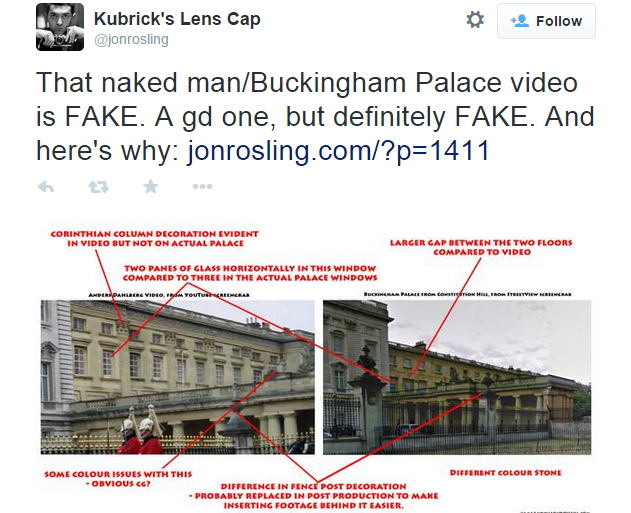 The Naked Man Escaping From Buckingham Palace Is A Hoax... Probably 123