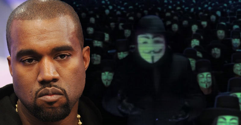 138 Anonymous Have Targeted Kanye West, Want To Teach Him A Lesson