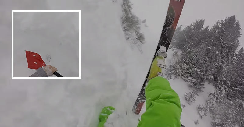 166 Intense Video Shows Men Rescue Friend Buried By Avalanche