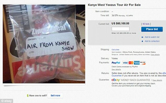 Air From A Kanye West Yeezus Gig Is On eBay For Over $60k 2662443200000578 2983076 image a 41 1425662934684 1