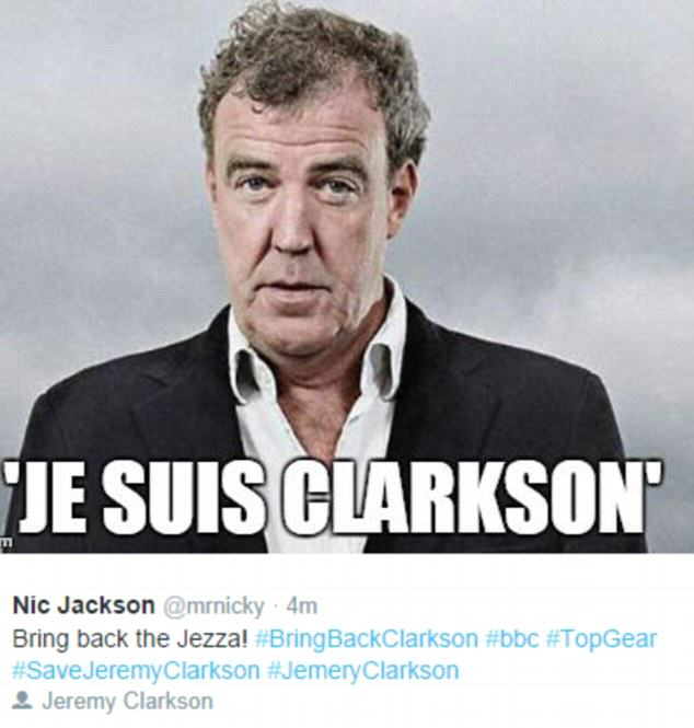 26898E0600000578 2988412 image m 41 1426077568467 The Internet Reacts To Jeremy Clarksons Suspension