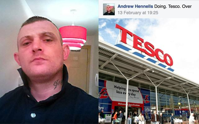 Robber Stupidly Posts Doing Tesco Over Before Raiding Store TescoWebsiteThumb 640x400