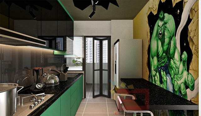 avg3 This Avengers Themed Apartment Is Seriously F*cking Cool