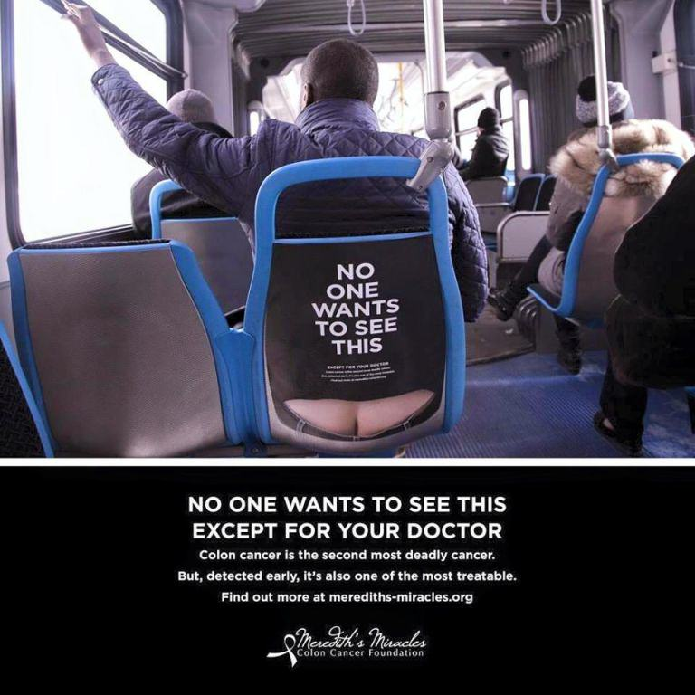 charity Colon Cancer Charitys Brilliant Ads Are A Little Bit Cheeky