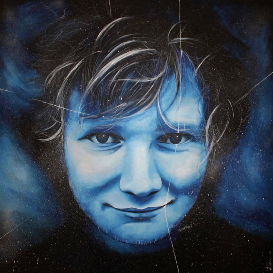 This Ed Sheeran Speed Painting Is Amazing edpic 1