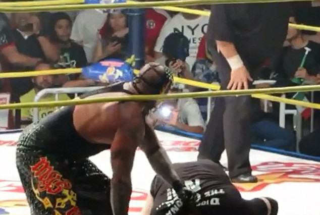 fight1 634x426 Fighter Dying In The Ring, No One Realises, Fight Goes On