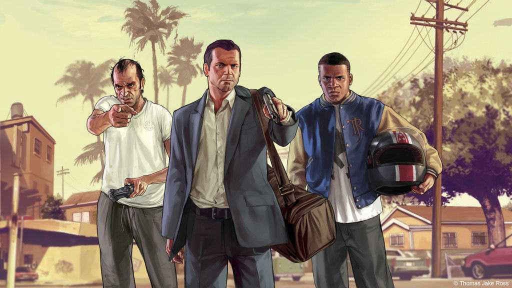 BBC Set To Make New Drama Based On Grand Theft Auto grand theft auto 5 by thomasjakeross d6net21